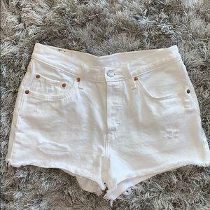 Levi's mid-rise denim shorts